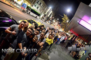 Queue to Levels Nightclub on Bourke St, Melbourne