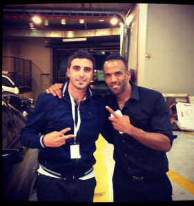Lucas Gugliandolo & Craig David backstage at Melbourne Concert
