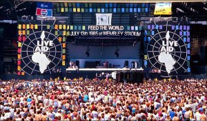 The greatest rock concert Live Aid in 1985