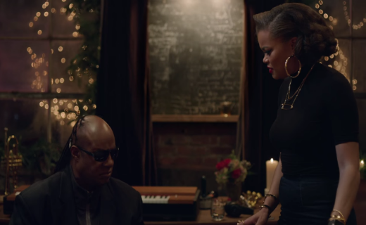 Stevie Wonder & Andra Day in Apple Christmas ad