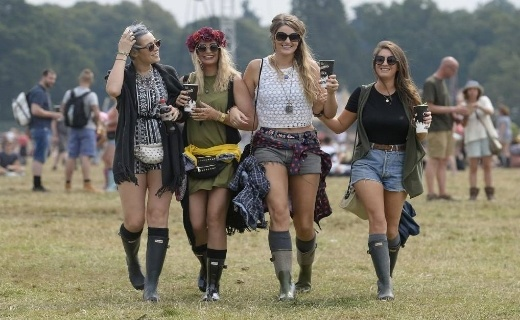 Hunter boots and music festivals