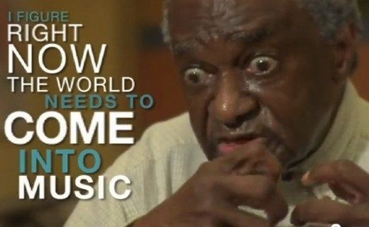 Old Man reacting to the sounds of music