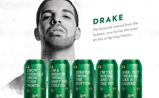 Sprite and Drake in a music strategy