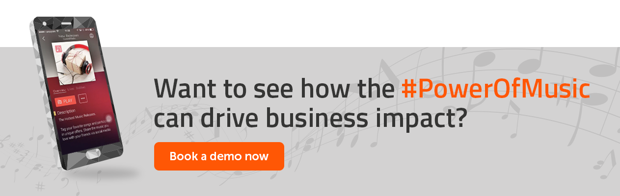 Want to see how the #PowerOfMusic can drive business impact? Book a demo now.