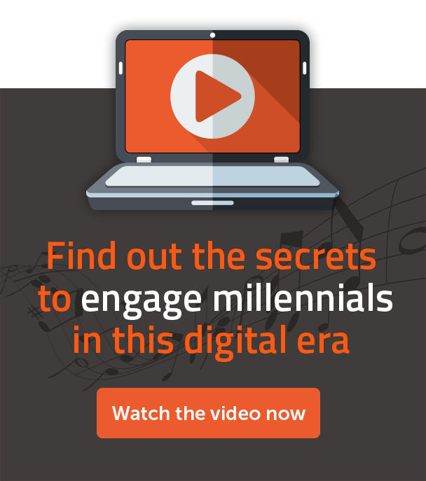 Find out the secrets to engage millennials in this digital ear - Watch the video now