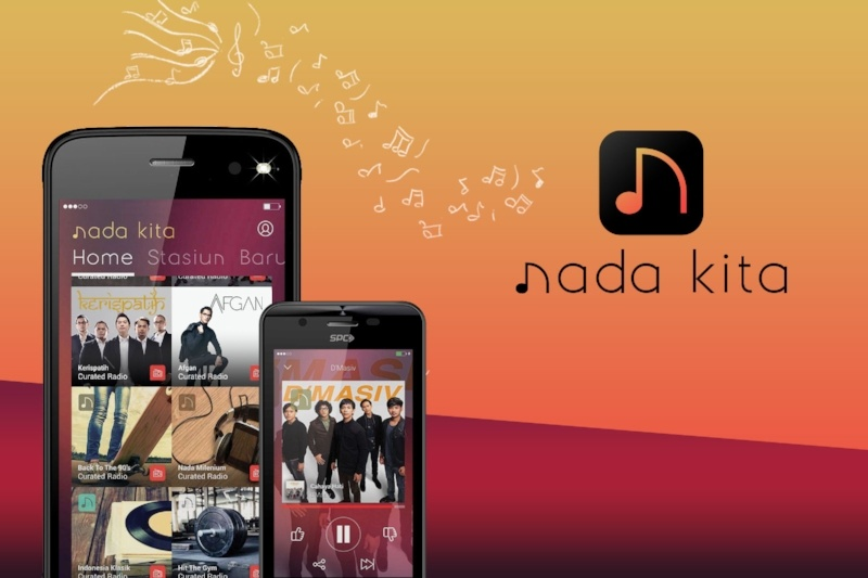 Nada Kita, a new Indonesian music app, launched by Tuned Global and the largest local labels