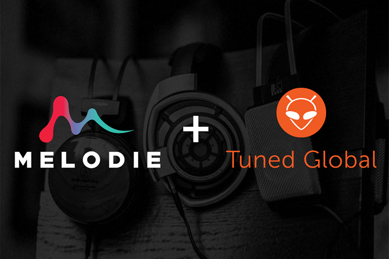 Melodie music catalogue available into Tuned Global's B2B streaming services
