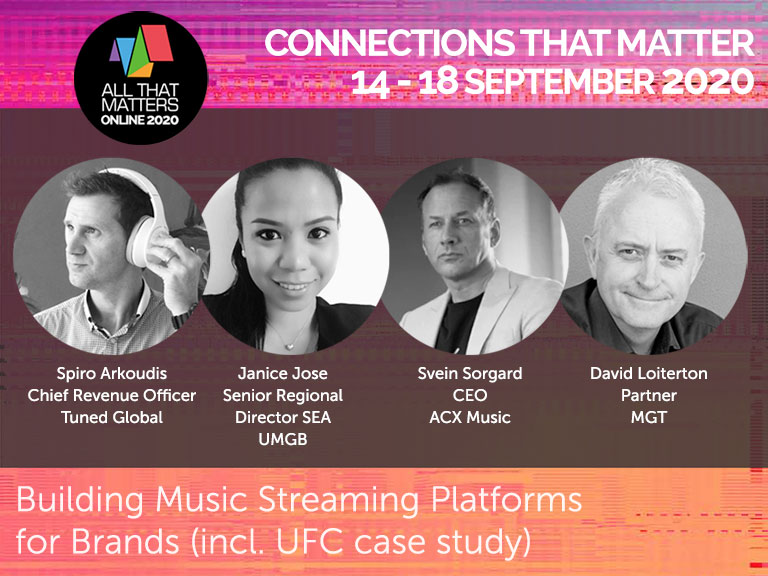 Panel report: Building Music Streaming Platforms for Brands, including UFC Case Study