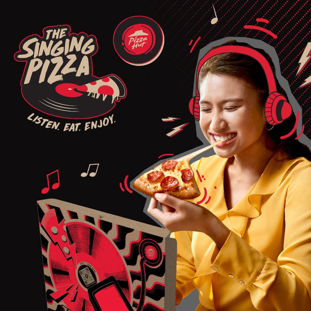 Tuned Global powers 'The Singing Pizza' app, the first singing pizza in the world!